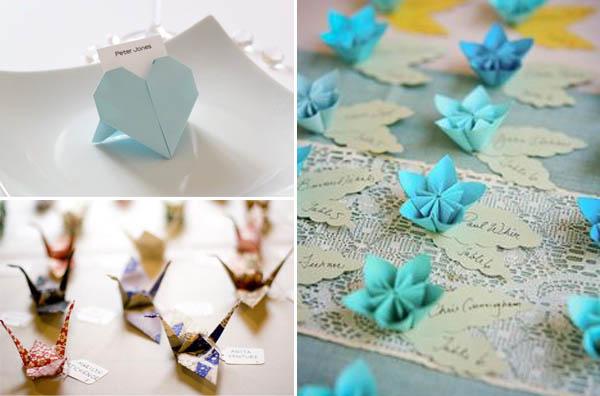 matrimonio origami segnaposto