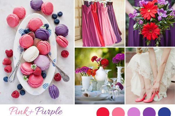 {Inspiration board} Matrimonio rosa, rosso e viola
