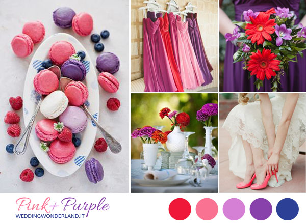 Matrimonio In Rosa : Inspiration board matrimonio rosa rosso e viola