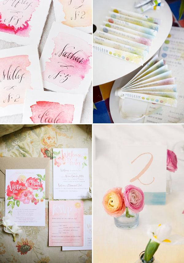 Partecipazioni Matrimonio Acquerello.Matrimonio A Tema Acquerello Wedding Wonderland