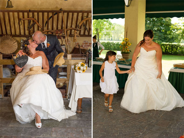 Matrimonio Girasoli Quadro : Matrimonio estivo in vespa