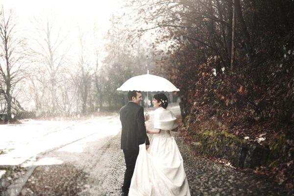 Un matrimonio invernale nella neve: Fabiana e Davide