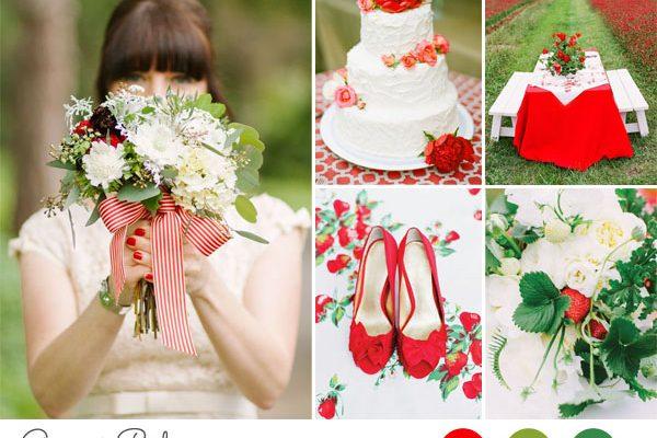 {Inspiration board} Matrimonio verde e rosso