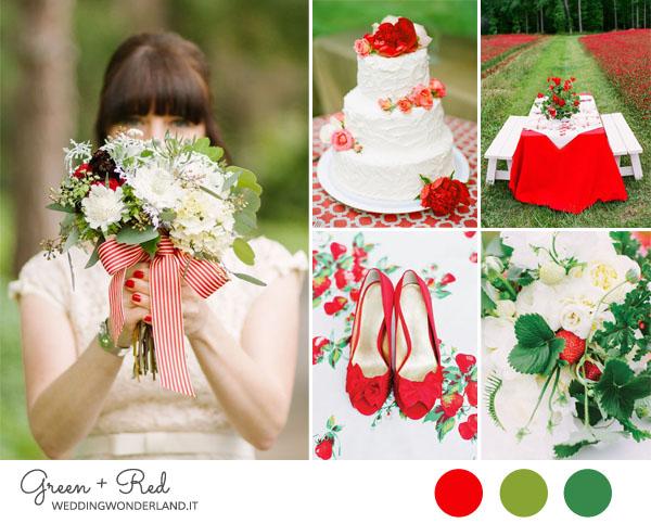 Matrimonio Tema Rosso E Bianco : Inspiration board matrimonio verde e rosso wedding