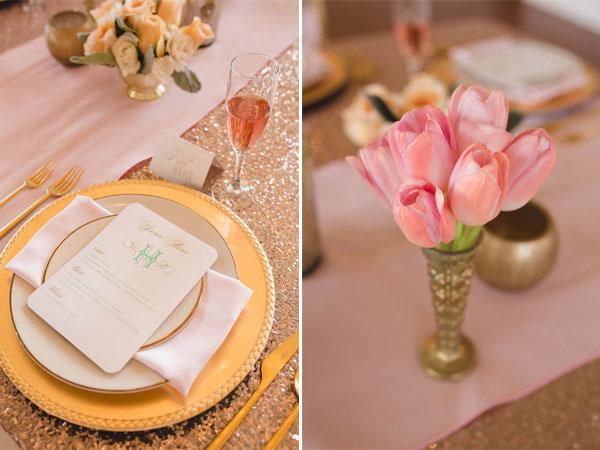 Matrimonio Tema Oro E Rosa : Matrimonio moderno ed elegante in menta rosa corallo e oro