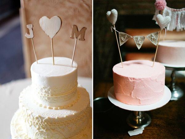 iniziali sposi cake topper