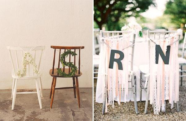 iniziali sposi decorazioni sedie