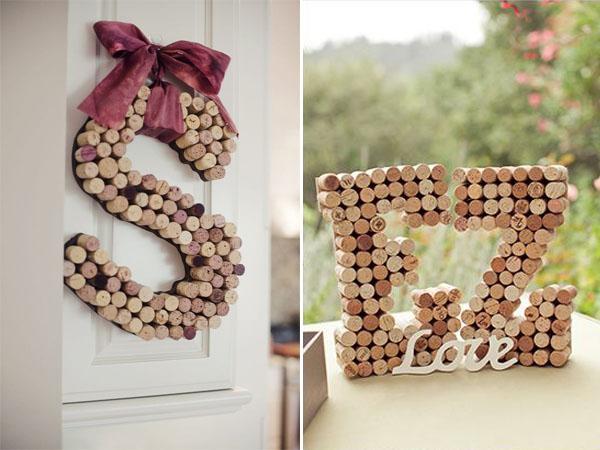 Centrotavola Matrimonio Rustico Fai Da Te : Decorazioni con le iniziali per matrimonio