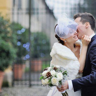 Azzurro e argento per un matrimonio natalizio: Annalisa e Alessandro