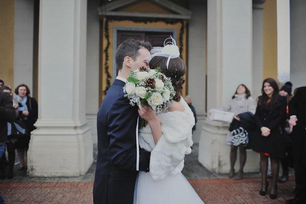 Matrimonio Stile Natalizio : Azzurro e argento per un matrimonio natalizio