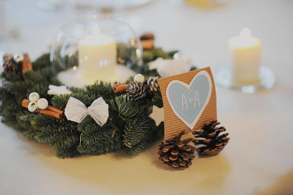 Matrimonio Natalizio Roma : Azzurro e argento per un matrimonio natalizio