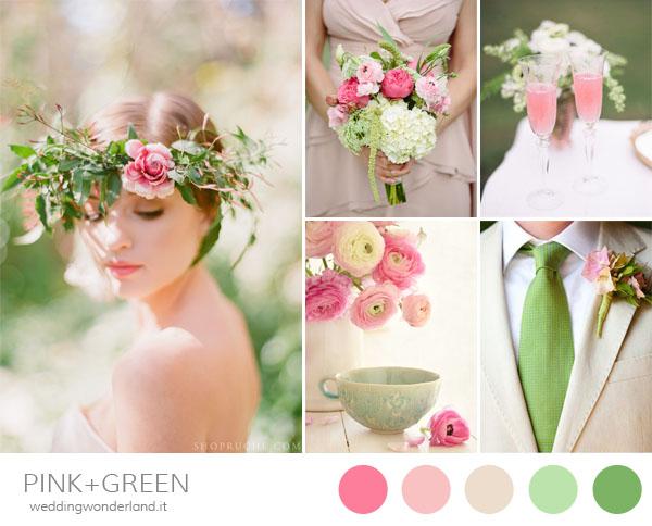 matrimonio rosa verde primavera