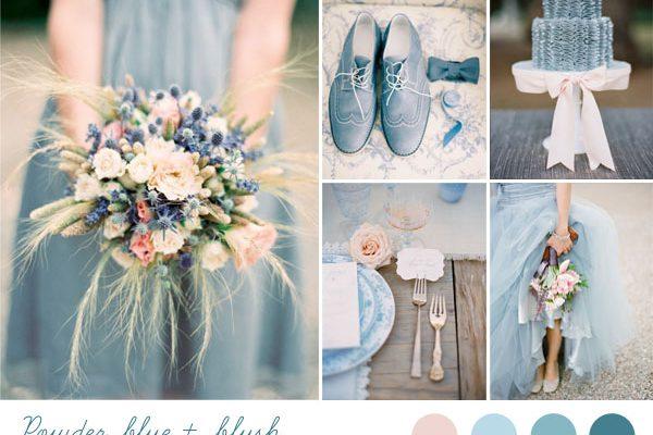 {Inspiration board} Matrimonio azzurro polvere e rosa
