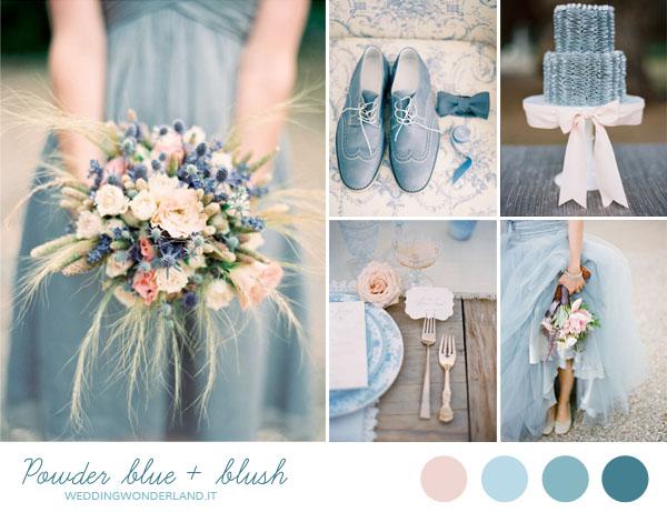 matrimonio azzurro polvere e rosa cipria