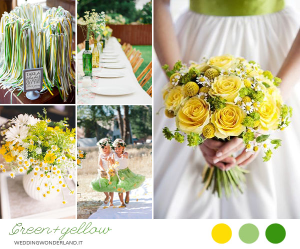 Matrimonio Tema Giallo : Matrimonio country in verde e giallo