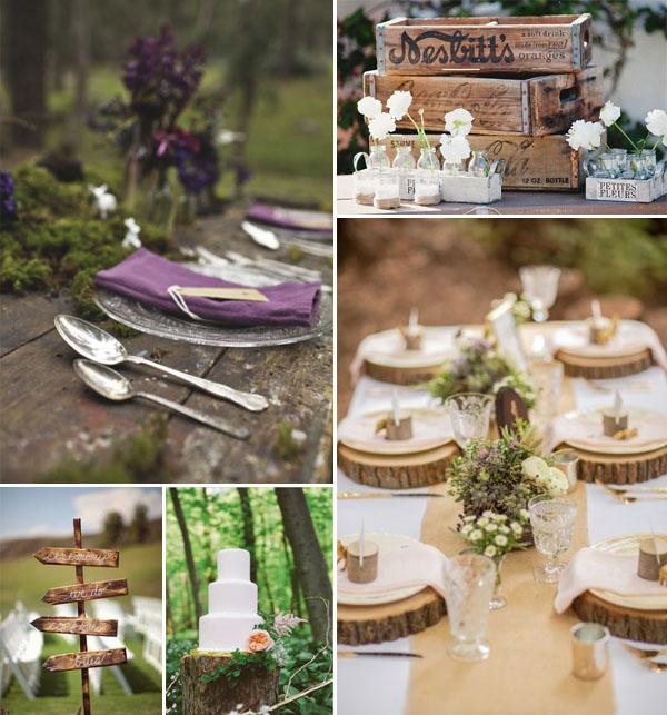 Matrimonio Tema Legno : Un matrimonio nel bosco wedding wonderland