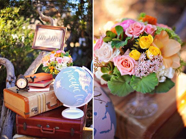 Auguri Matrimonio Tema Viaggio : Inspiration shoot mongolfiere e mappamondi per un