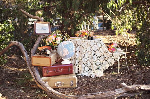 Matrimonio Tema Viaggi Vintage : Inspiration shoot mongolfiere e mappamondi per un