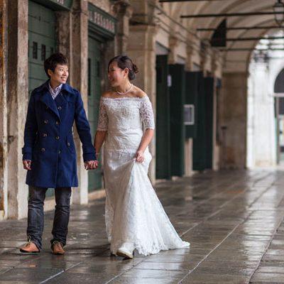 Un trash the dress a Venezia: Eunice e Anita