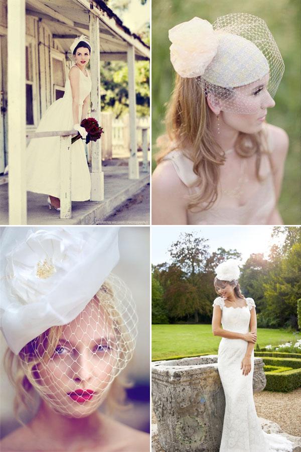 cappelli da sposa con veletta | wedding wonderland