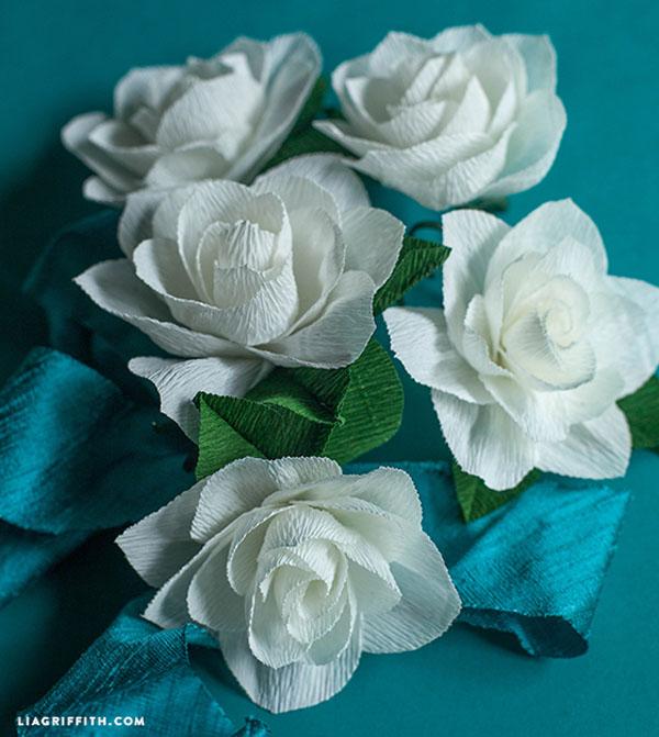 gardenie carta crespa fai da te