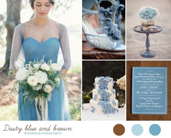Azzurro Polvere Colore Matrimonio : Matrimonio carta da zucchero e cioccolato