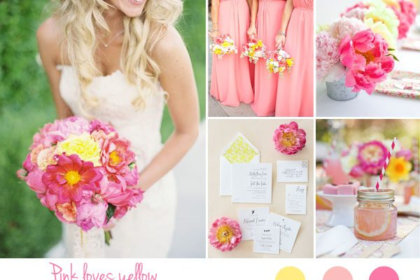 Inspiration board: rosa e giallo