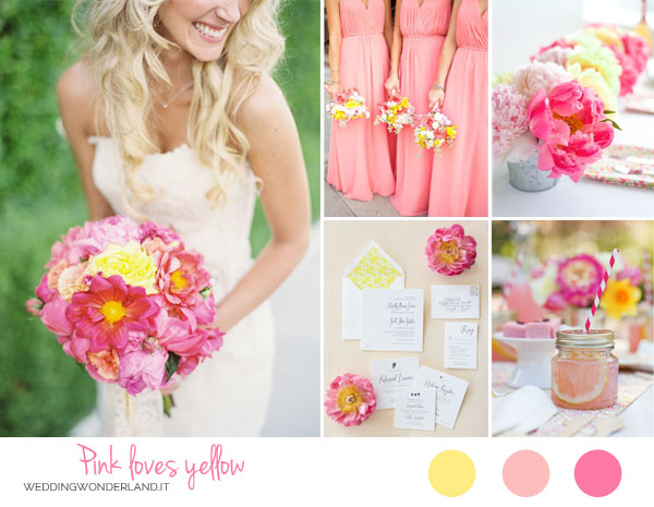 matrimonio rosa e giallo | wedding wonderland