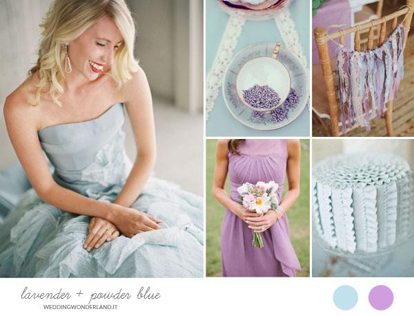 matrimonio lilla e azzurro