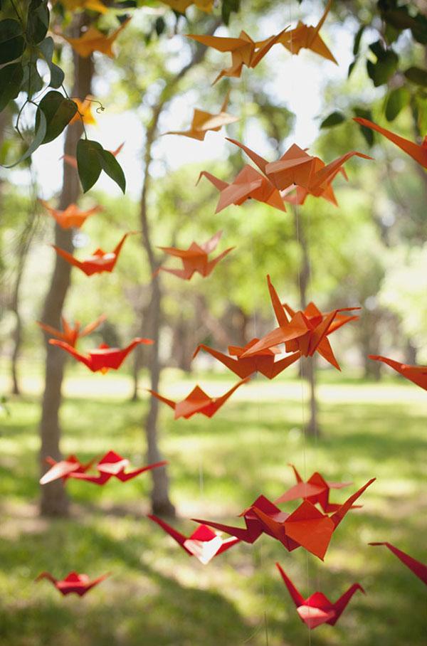 ghirlanda origami fai da te