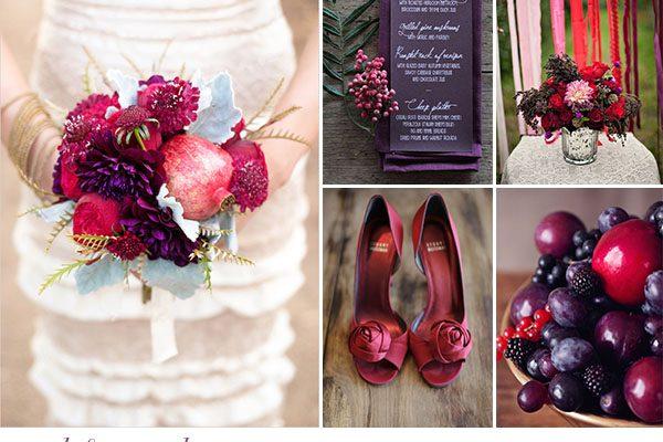 Inspiration board: Autunno in rosso e viola
