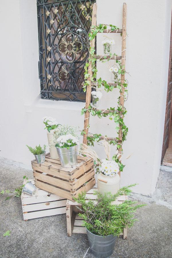 Un matrimonio country a tema vino cinzia e alessandro for Escalera madera decoracion