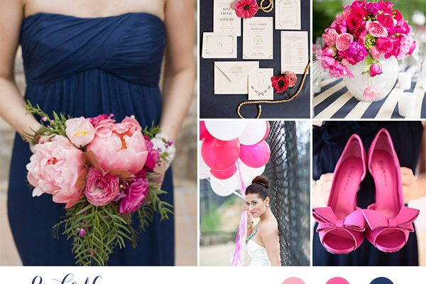 Inspiration board: Rosa e blu navy