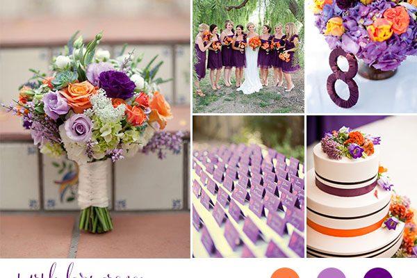Inspiration board: Viola e arancione