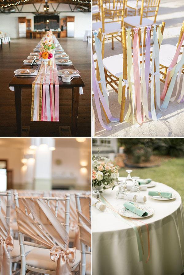 Decorazioni sei idee con i nastri for Decorazioni tavoli matrimonio