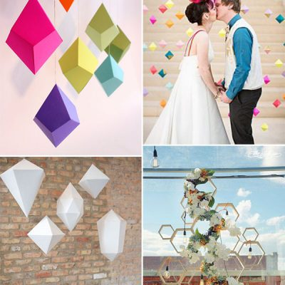 Wedding trend: decorazioni geometriche