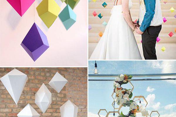 Wedding trend: decorazioni geometriche