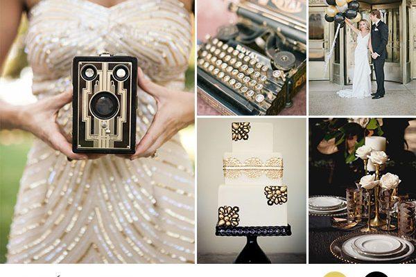 Inspiration board: Art déco in nero e oro