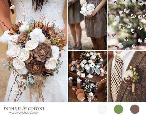 Matrimonio Tema Inverno : Cotone per un matrimonio rustico