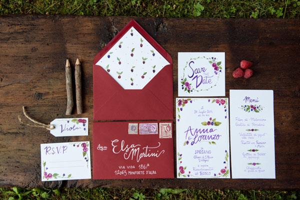 partecipazioni matrimonio nel bosco