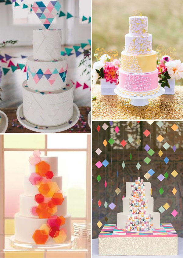 torte matrimonio geometriche