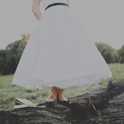 Un trash the dress ispirato alle atmosfere di Tim Burton