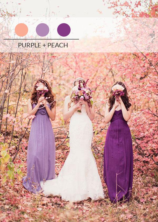 Matrimonio Viola E Azzurro : Palette di colori per un matrimonio autunnale