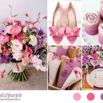 Inspiration board: Sfumature di rosa e viola