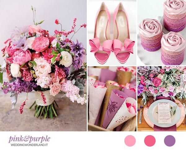 Matrimonio In Rosa : Matrimonio rosa e viola