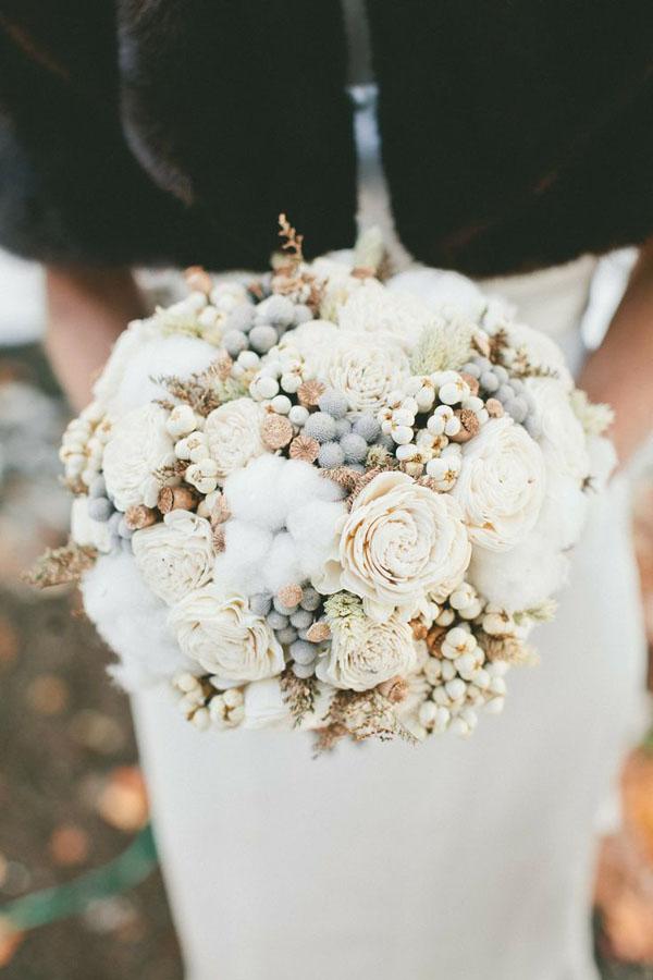 bouquet fiori di cotone