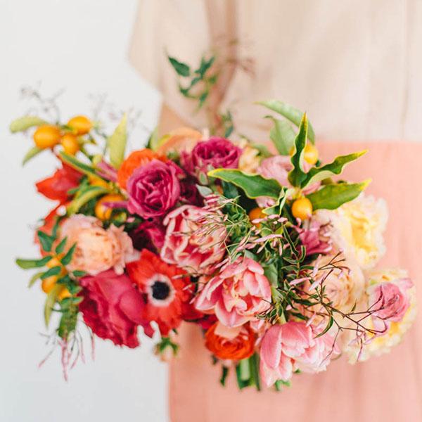 bouquet invernale con kumquat
