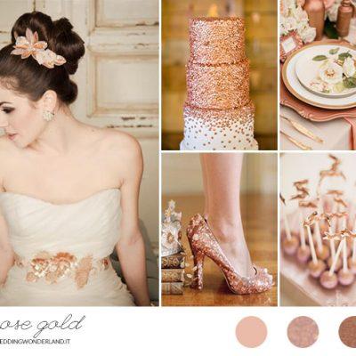 Inspiration board: oro rosa