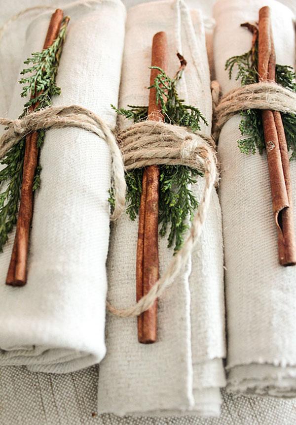segnaposto con cannella matrimonio invernale