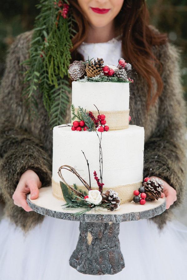 torta matrimonio invernale